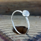Silver ring, Moonstone  Skinny ring