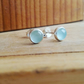 silver stud earrings, Aquamarine 5 mm studs Sterling Silver