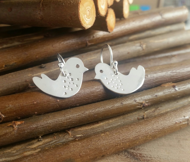 Petit love bird drop earrings