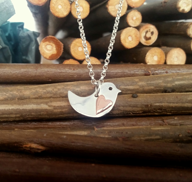 Little Robin red breast pendant