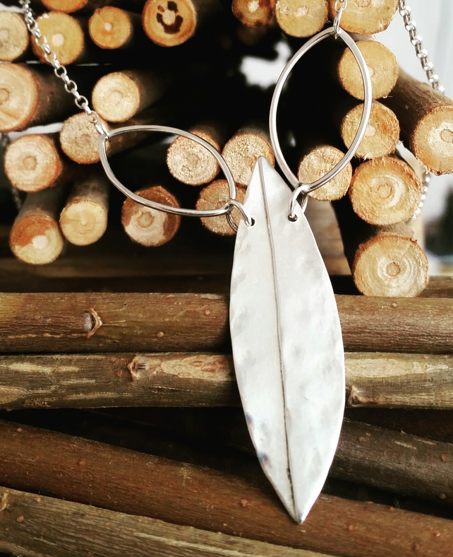 Organic leaf necklace