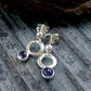 Iolite sterling silver stud drop earrings