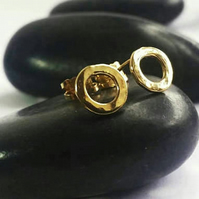 Hoop stud earrings, gold hoop earrings