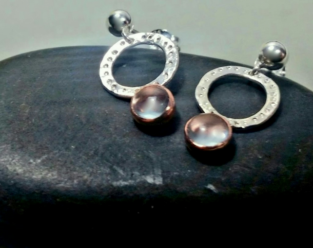 Silver earrings, silver topaz earrings