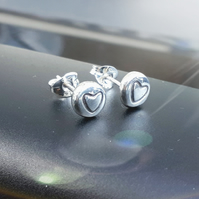 Silver studs, silver stud earrings