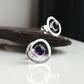 Swirl Amethyst silver earrings