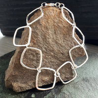 Sterling silver abstract design bracelet