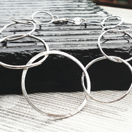 Large hoop necklace Sterling Silver