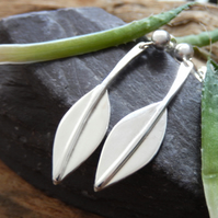 Stylised leaf design earrings