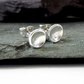 Recycled STERLING SILVER concave stud earrings