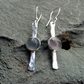 Silver earrings, silver dangle earrings, silver Fluorite earrings