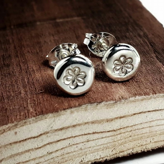 Recycled STERLING SILVER earrings