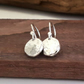 Recycled STERLING SILVER drop earrings
