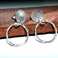 Stud and hoop earrings