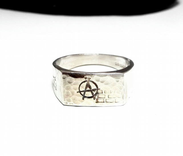 Sterling silver signet style rings