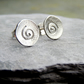 RECYCLED sterling silver stud earrings