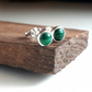 Malachite 5 mm studs Sterling Silver