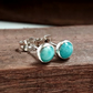 Stud earrings, Amazonite 5 mm studs Sterling Silver