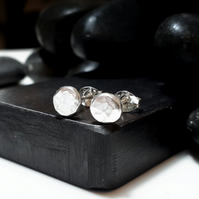 Recycled sterling silver studs