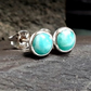 Amazonite 5 mm studs Sterling Silver