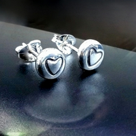 RECYCLED silver stud earrings