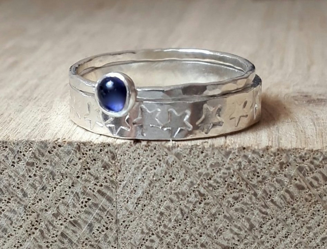 Sterling silver two stack rings