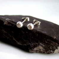 RECYCLED sterling silver 4mn studs