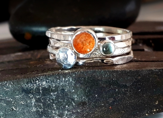 Silver ring,stacking rings