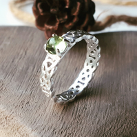 Peridot celtic ring