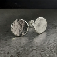 Silver stud earrings, stud earrings