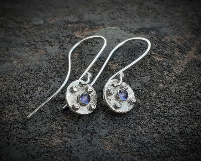 HANDMADE Sterling silver drop earrings