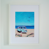 VW Campervan - Sunshine Beach Print
