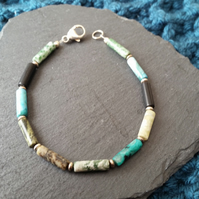 Gemstone Bracelet with Sterling Silver Findings