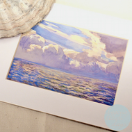 STORM CLOUDS Mounted Picture BYGONE BEACH DAYS - Vintage