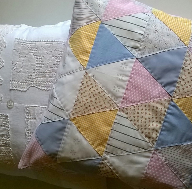 Pastel Triangles Cushion
