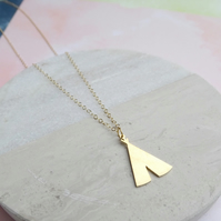 24k Gold Plated Teepee Necklace