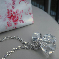 Trinity - Sterling silver and rock crystal necklace