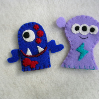 Set of Monster Finger Puppets
