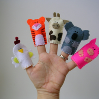 Set of 5 Finger Puppets