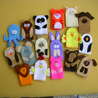 Set of 10 Finger Puppets