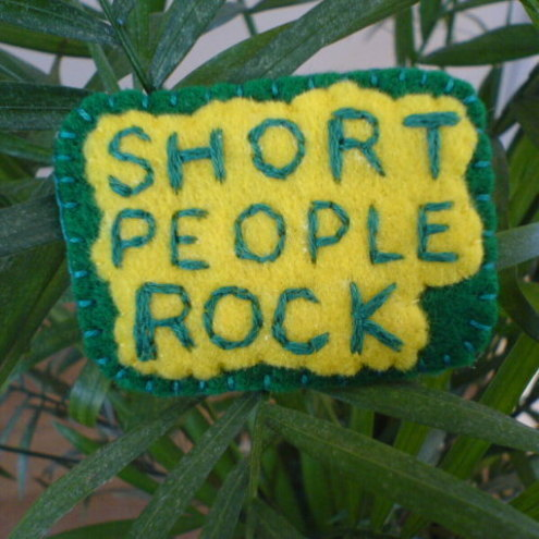 Short People Rock Badge