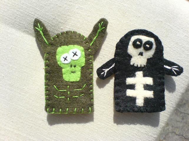 Set of Horror Finger Puppets