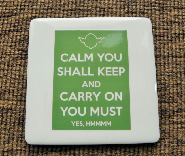 Yoda, Keep Calm! Coaster