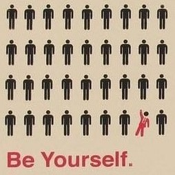 Be Yourself Fridge Magnet