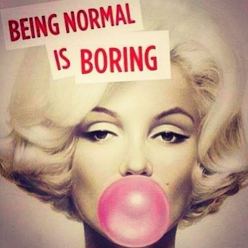 Being Normal is Boring Fridge Magnet