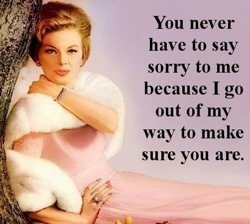 Never Have To Say Your Sorry Fridge Magnet
