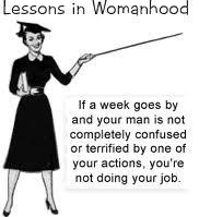 Lessons In Womanhoood Fridge Magnet