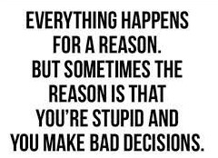 Everything Happens For A Reason Fridge Magnet