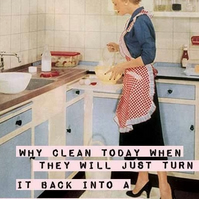Why Clean Today?  Fridge Magnet
