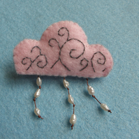 Pink Storm Cloud Brooch